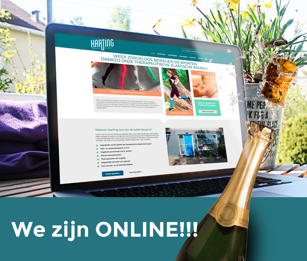 Nieuw website Harting Compressietherapie